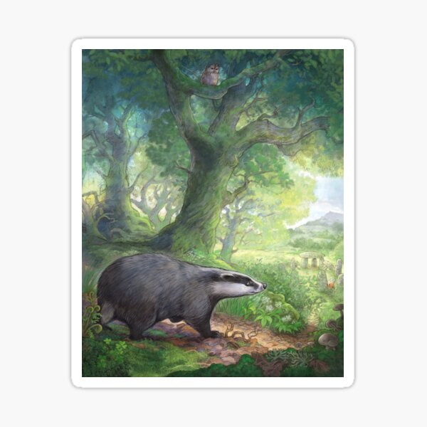 Badger in the woods Sticker
