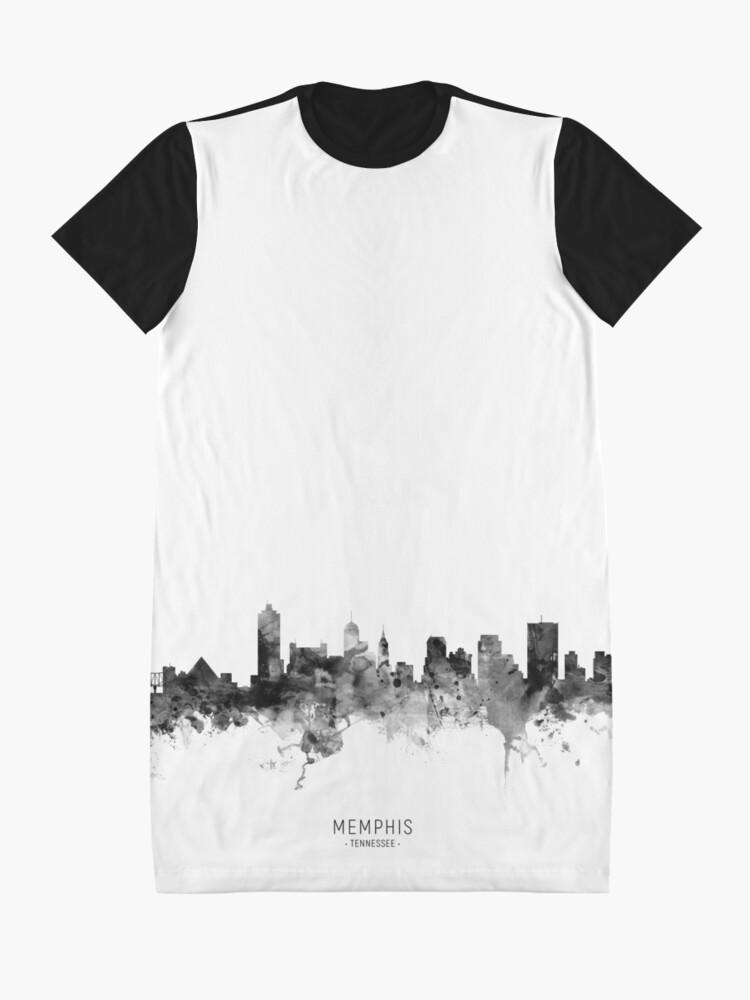 Alternate view of Memphis Tennessee Skyline Graphic T-Shirt Dress
