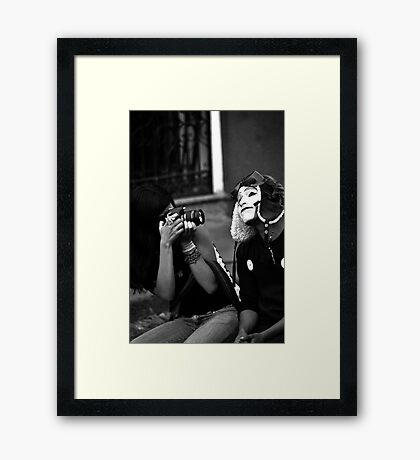 Mime Closeup II Framed Print