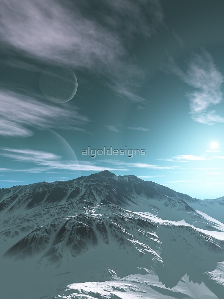 The Mountains of Sirius Beta by algoldesigns