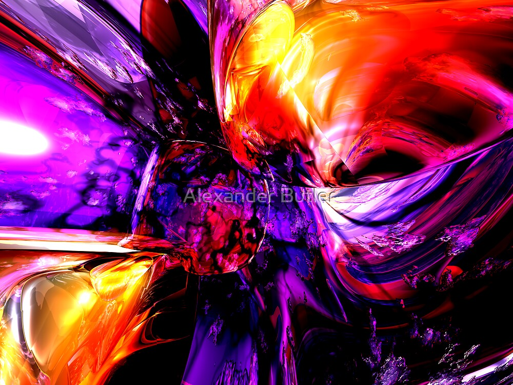 Mixed Feelings Abstract by Alexander Butler