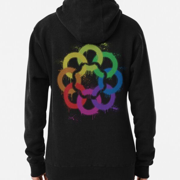 graffiti rainbow flower Pullover Hoodie