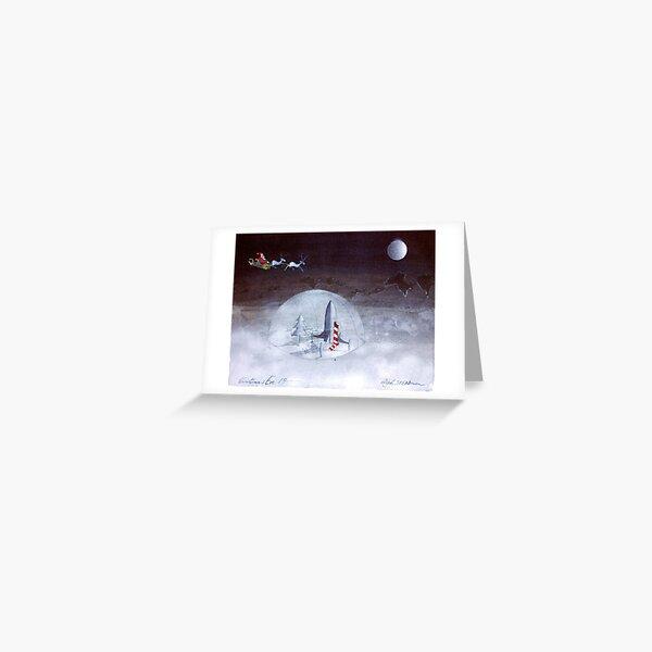 Santa Moon Flight Greeting Card