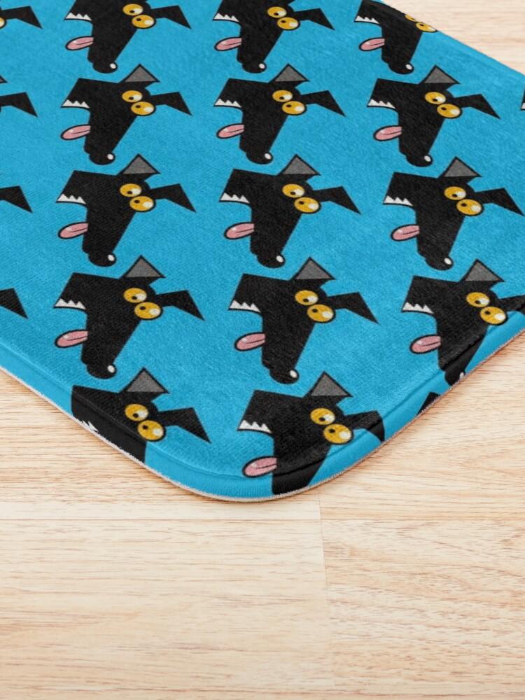 Alternate view of Seamless Derp: Blue Bath Mat