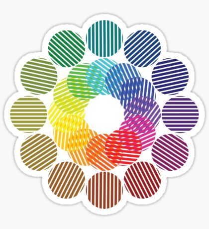two tone colour wheel Sticker