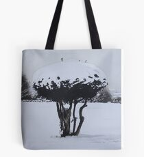 Christmas snow landscape scenic original art  Tote Bag