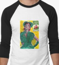 1940's Perfume Ad Men's Baseball ¾ T-Shirt