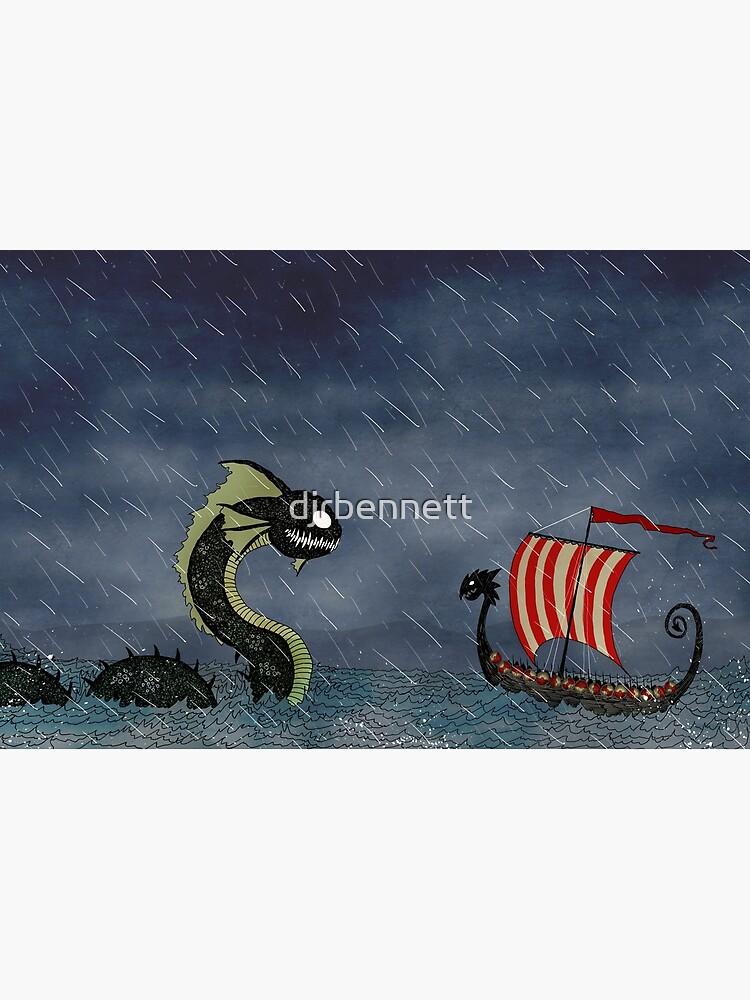 Vikings & Sea Serpent by djrbennett