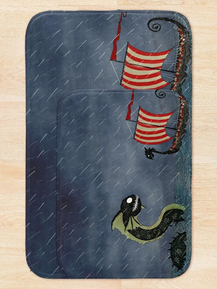 Alternate view of Vikings & Sea Serpent Bath Mat