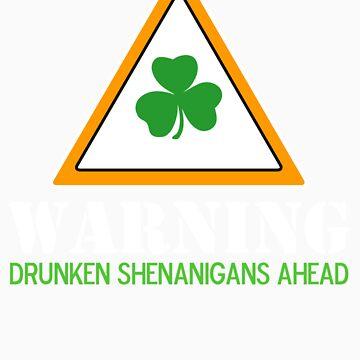 Drunken Shenanigans St. Patrick's Day Shirt by BeataViscera