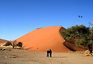 Watching the climbers in Sossusvlei by Margaret  Hyde