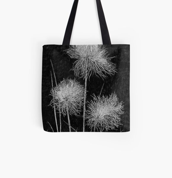 Cottongrass All Over Print Tote Bag