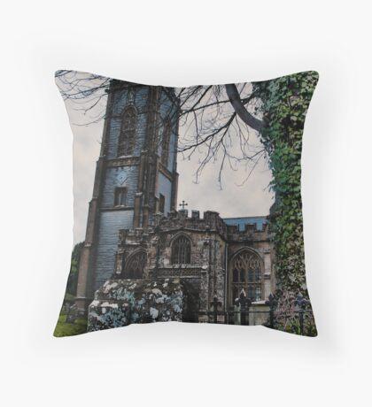 St Andrews Church, Curry Rivel, Somerset Throw Pillow