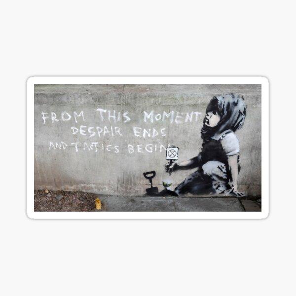 Banksy at Extinction Rebellion Sticker