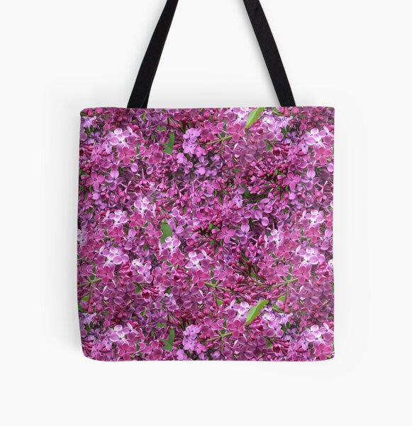 Among the lilacs by Tea with Xanthe All Over Print Tote Bag
