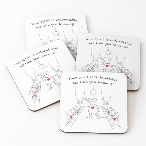 Dancing MantraMouse Act Like You Know It Cartoon Coasters (Set of 4)