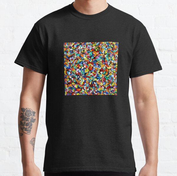 Off the Edge: Ordered Chaos. Abstract expressionist acrylic square painting by Pamela Parsons Classic T-Shirt