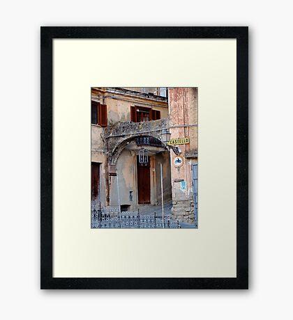 Entering Old Amantea Framed Print