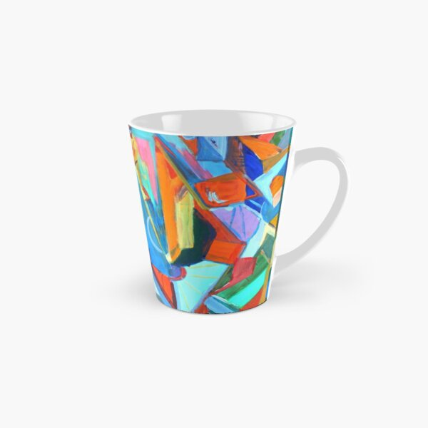 Portal, acrylic geometric abstract expressionist painting by Pamela Parsons. Tall Mug