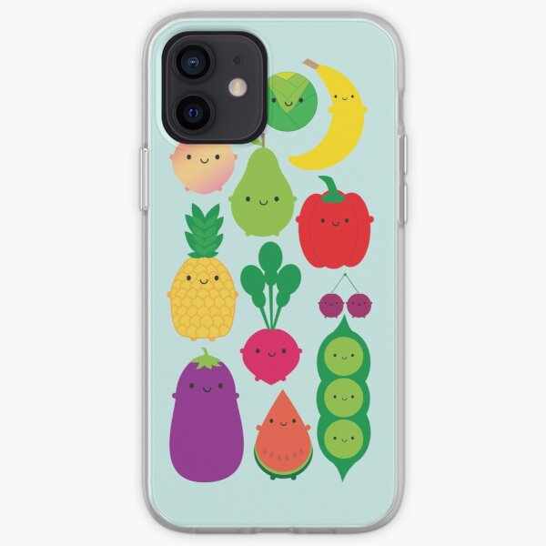5 A Day Fruit & Vegetables iPhone Soft Case