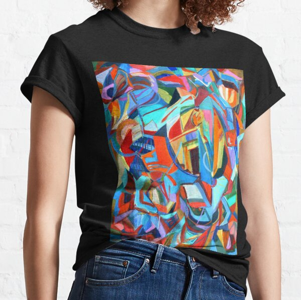 Portal, acrylic geometric abstract expressionist painting by Pamela Parsons. Classic T-Shirt