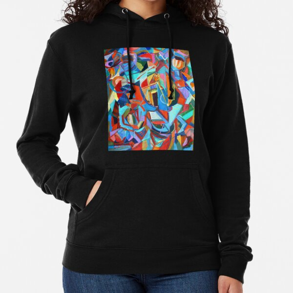 Portal, acrylic geometric abstract expressionist painting by Pamela Parsons. Lightweight Hoodie