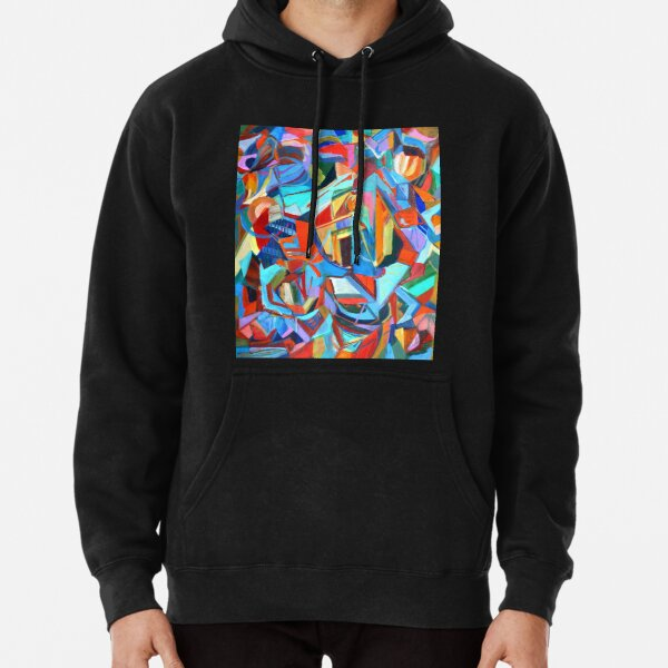 Portal, acrylic geometric abstract expressionist painting by Pamela Parsons. Pullover Hoodie