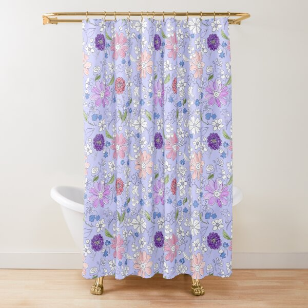 Garden bounty lavender by Tea with Xanthe Shower Curtain