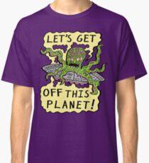 Alien UFO Escape Classic T-Shirt
