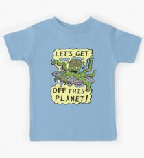 Alien UFO Escape Kids Clothes