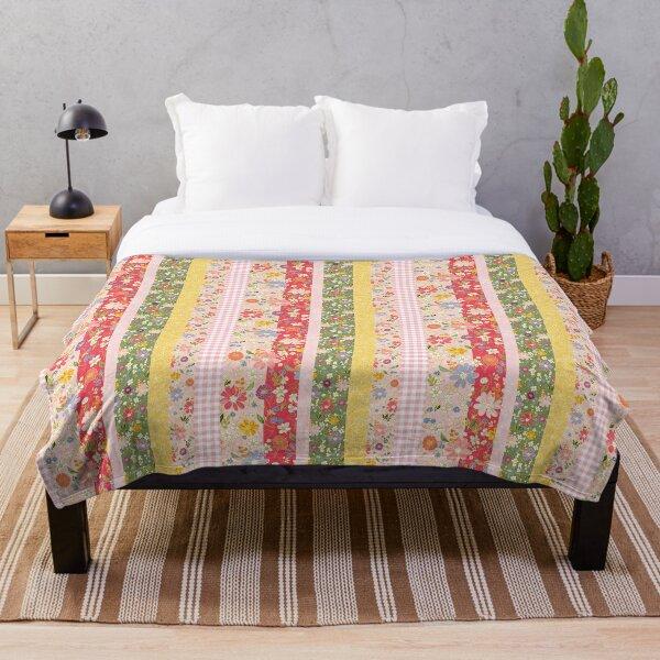 Happy quilt stripe Throw Blanket