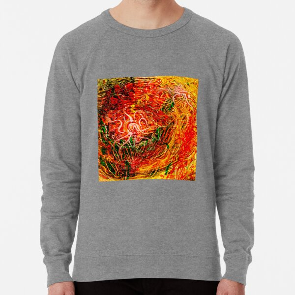 rising fluid energy abstraction art Lightweight Sweatshirt