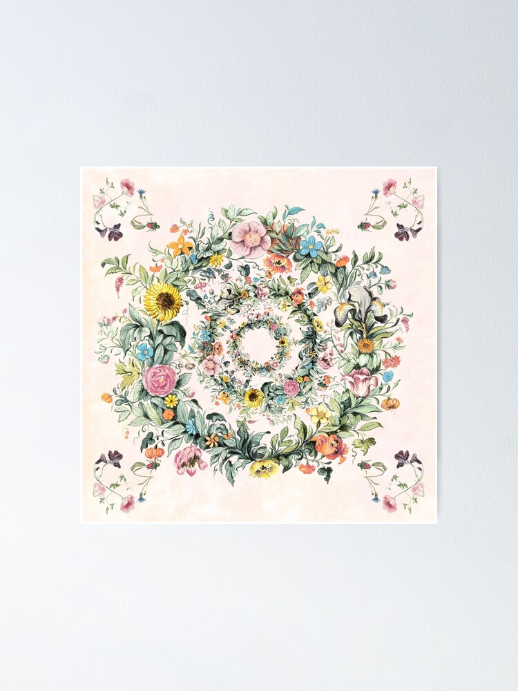Alternate view of Circle of life-floral painting Poster