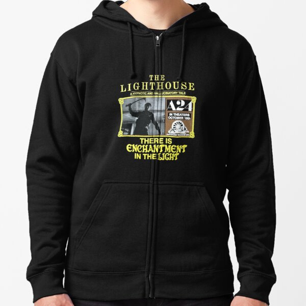 the lighthouse Zipped Hoodie