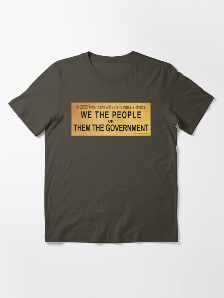 Alternate view of We or Them Essential T-Shirt