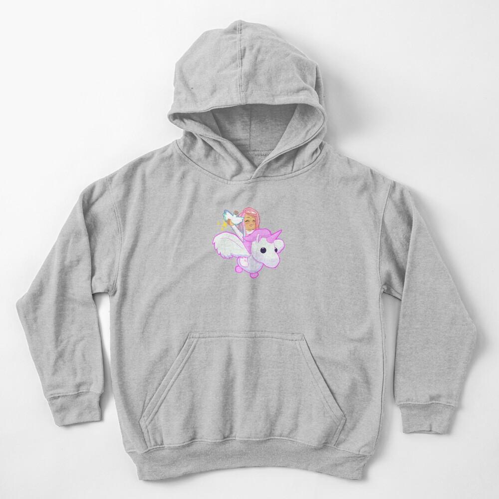 Adopt Me - Pink Flying Unicorn Kids Pullover Hoodie
