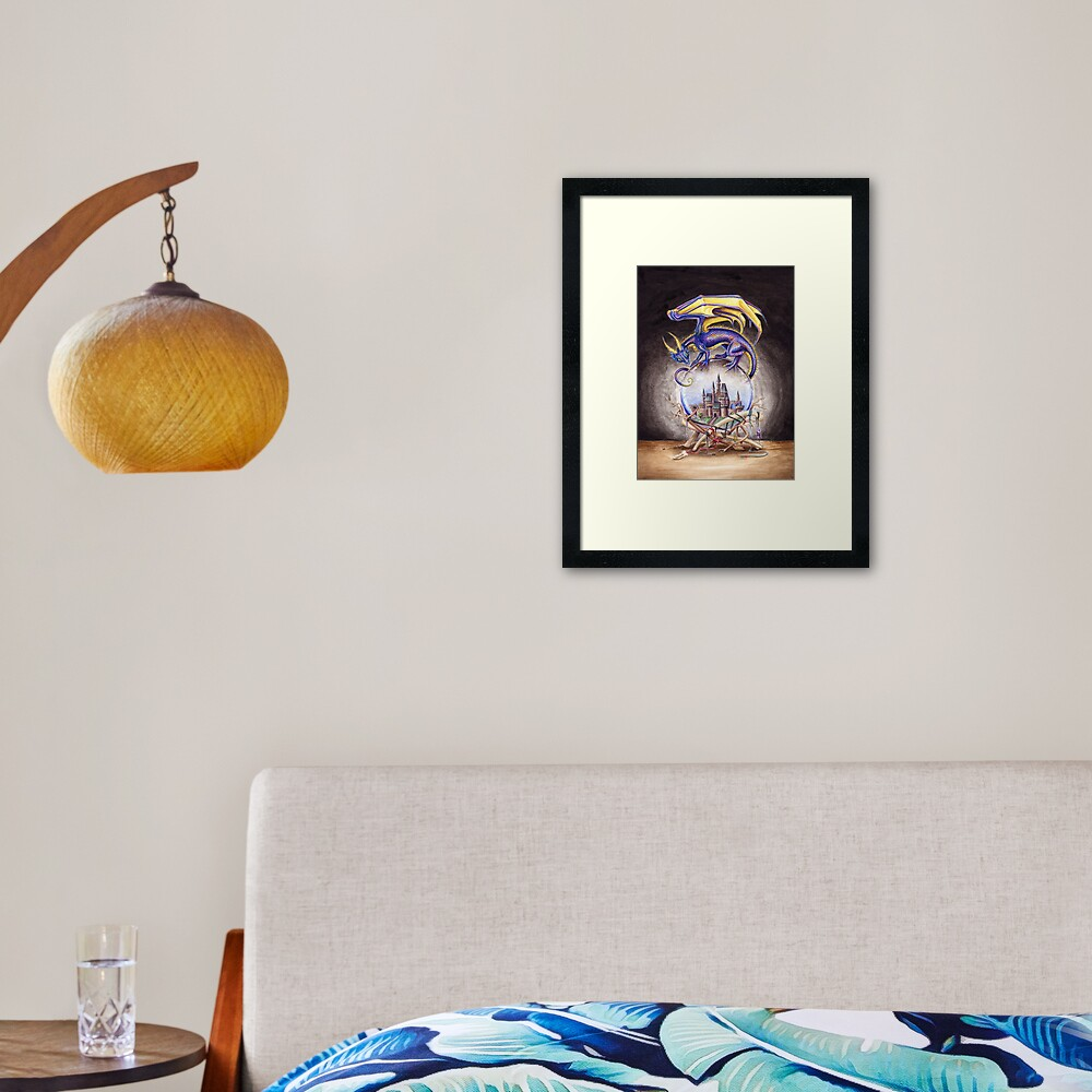 The Mystic's Familiar Framed Art Print
