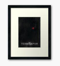 """The Terminator"" - minimalist movie poster design Framed Print"