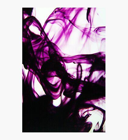 Purple Swirls Photographic Print