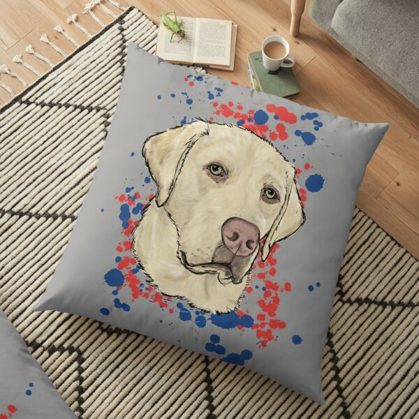 Cindy the Yellow Lab Floor Pillow