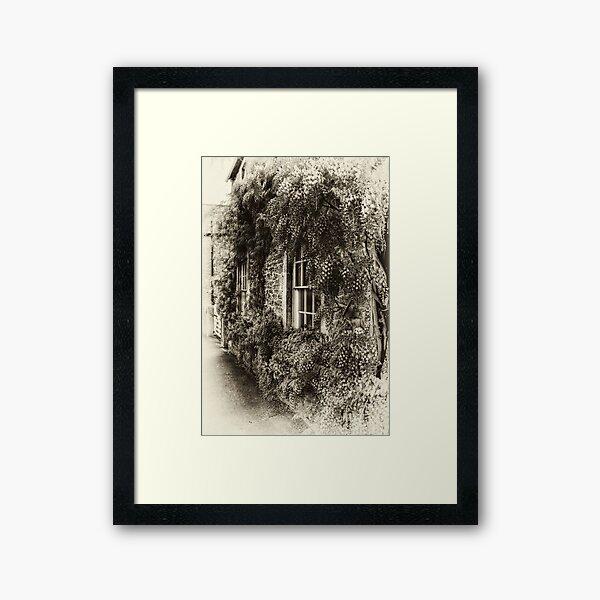 The Wisteria Window Framed Art Print