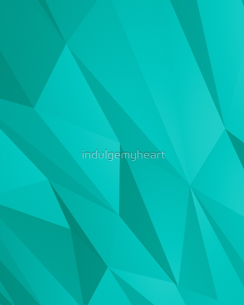 Geo Teal by indulgemyheart