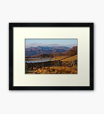 Wise Een tarn and the Langdale Pikes Framed Print