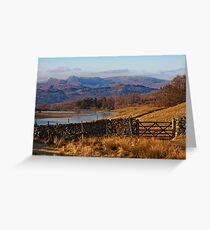 Wise Een tarn and the Langdale Pikes Greeting Card