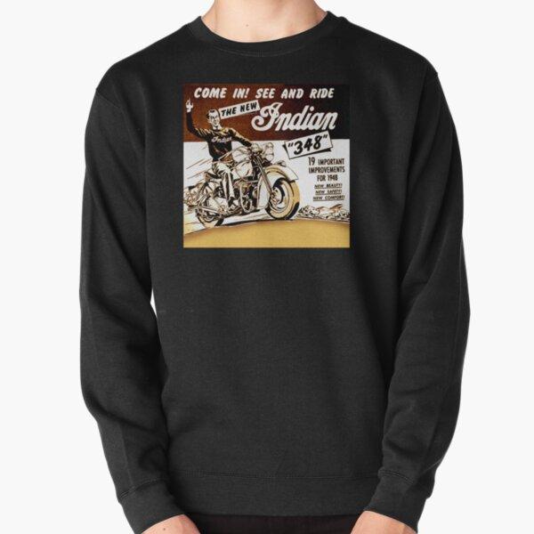 Riders 78 Vintage Mens Funny Biker Hoodie Motorbike Bike Indian Bike
