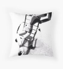 """Silly Seat (4)"" - Laid Back Throw Pillow"