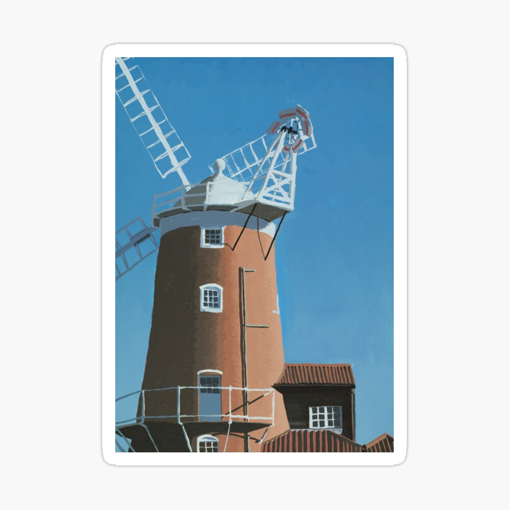 Cley Next the Sea Windmill, Morning Sticker