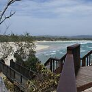 Byron Beach NSW again from viewing platform Southern end by BronReid