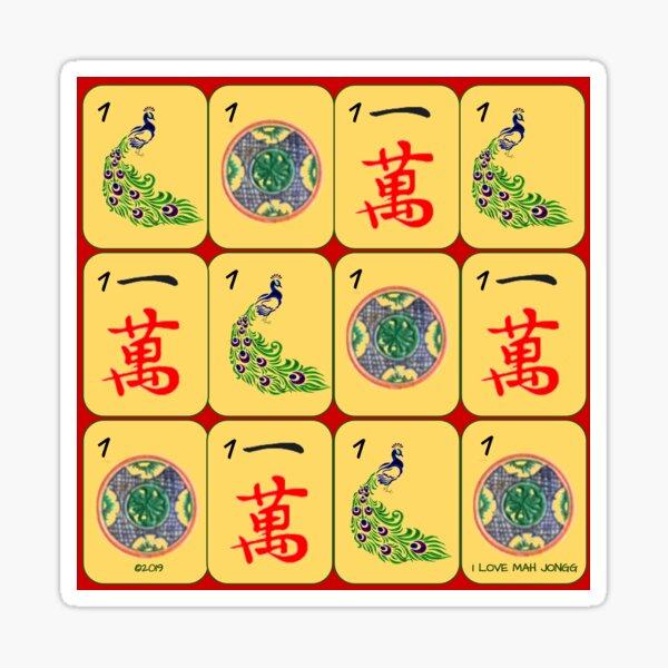 One Mah Jongg Tiles Sticker