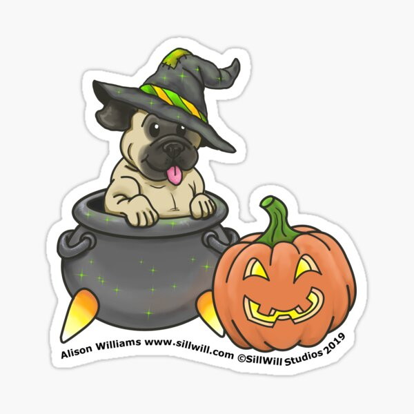 """What's In The Witch's Brew?"""" Sticker"""